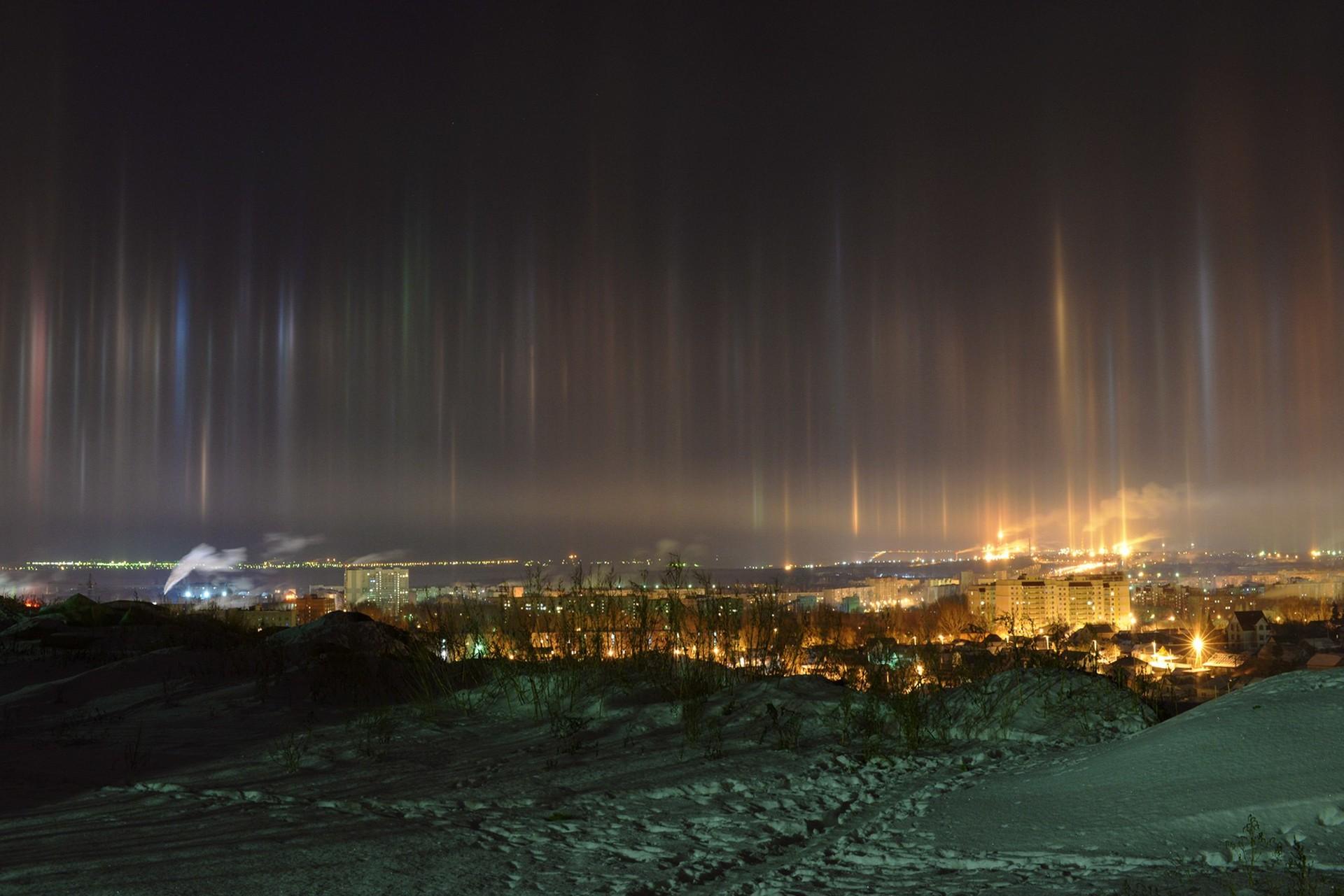 pilastri luminosi - luci terremoti